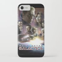 battlestar iPhone & iPod Cases featuring BATTLESTAR GALACTICA POSTER by tanman1