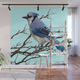 AMERICAN BLUE JAYS ART BLUE WINTER ART DESIGN Wall Mural