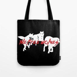 Running Wolves [Black] Tote Bag