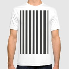 Stripe it! Mens Fitted Tee White MEDIUM