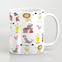 circus Mugs featuring Circus by Lydia Meiying