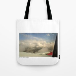 Just through the clouds Tote Bag