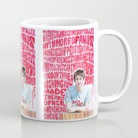 arctic monkeys Mugs featuring Bigger Boys and Stolen Sweethearts - Arctic Monkeys by Frances May K