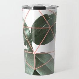Geometric greenery Travel Mug