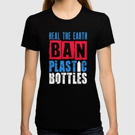 Ban Plastic Pollution Planet Earth Oceans Marine Life design T-shirt
