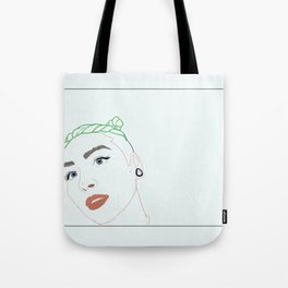 green haired babe Tote Bag