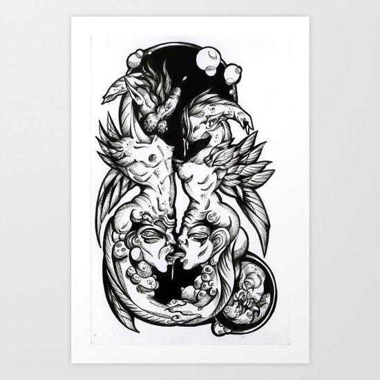 Sea-Horses Art Print