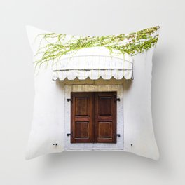 Window and awning Throw Pillow
