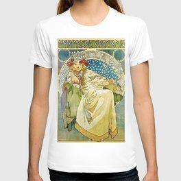 Princezna Hyacinta Alphonse Mucha Art T-shirt