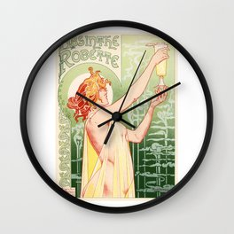 Belle Epoque vintage poster, drink Wall Clock