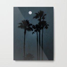 Coastal Moon Metal Print