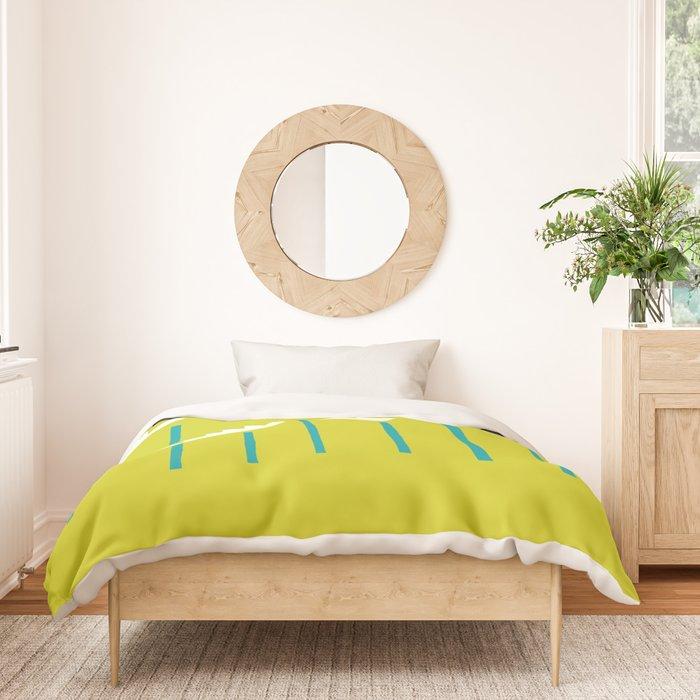 White Tropical Plants Duvet Cover, Chartreuse Bedding Plants