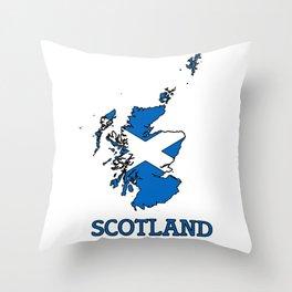 scotland-flag-logo Throw Pillow
