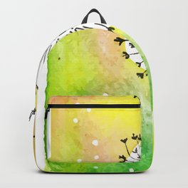 Watercolor Dandelion - Make a wish Backpack