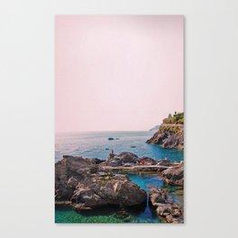 Cinque Terre Sunset Swim Canvas Print