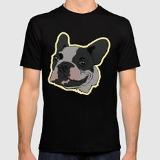 French Bulldog Mens Fitted Tee Black MEDIUM