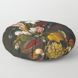 Severin Roesen - Victorian Bouquet Floor Pillow