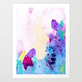 Punch Garden - Colorful Abstract Painting  Art Print