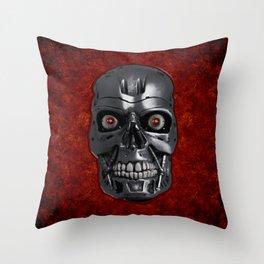 Terminator Monochrome Throw Pillow
