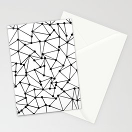 Ab Out Lines With Spots White Stationery Cards