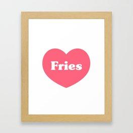 Heart Fries Framed Art Print