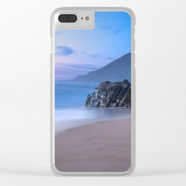 Ocean Tides - Mist Rolls in At Sunset in Big Sur Clear iPhone Case