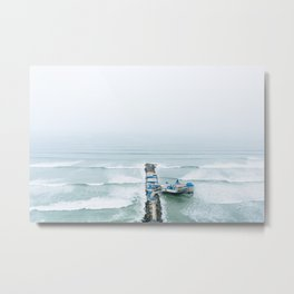 View off the Coast of Miraflores, Lima, Peru Metal Print