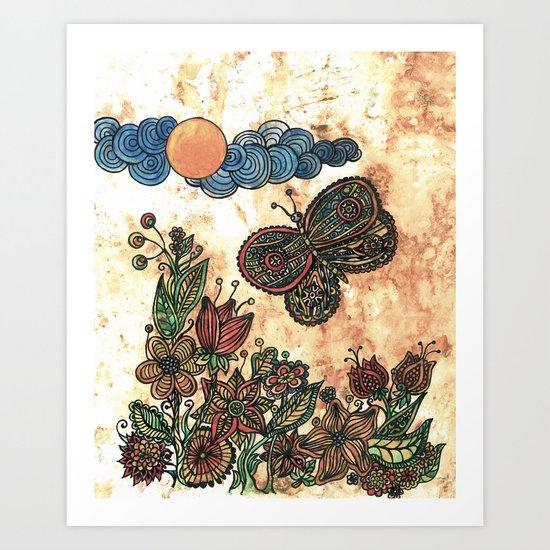 Magical garden Art Print