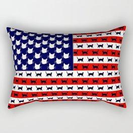 Cat Flag Rectangular Pillow