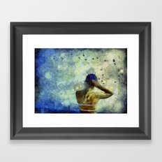 Baseball Fan Framed Art Print