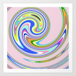 swim in colour Art Print