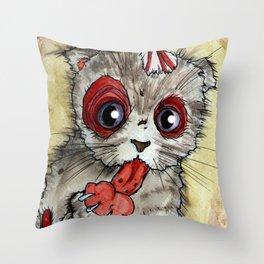 LOL zombie cat Throw Pillow