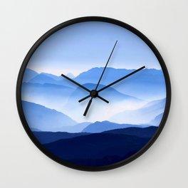 Blue Mountain Horizon Wall Clock