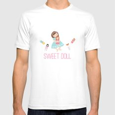 SWEET DOLL MEDIUM White Mens Fitted Tee