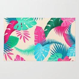 Tropical flowers Rug