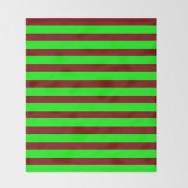 marinière mariniere Green version 2 Throw Blanket
