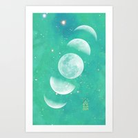 moon phase Art Prints featuring Moon Phase  by The Adventuring Soul