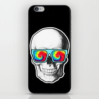 psychadelic iPhone & iPod Skins featuring Psychadelic Skull Tiedye glasses by Chara Chara