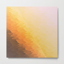 Peach Beige Goldenrod Texture Ombre Metal Print