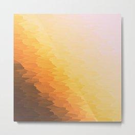 Peach Beige Goldenrod Texture Ombre Metal Print