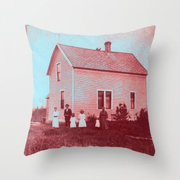 Early Settlers Throw Pillow