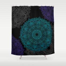 My Spirit Mandhala   Secret Geometry Shower Curtain