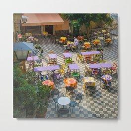 Castelmola Cafe Metal Print