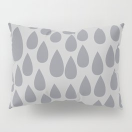 Grey drops Pillow Sham