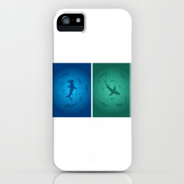 Sharks Moving Around iPhone Case