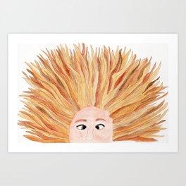 Autumn in Her Hair Art Print