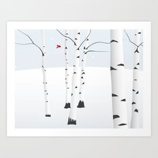 Birches Art Print