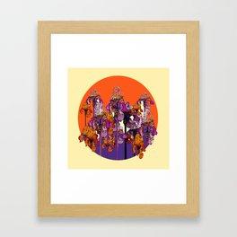 "modern art "" PURPLE & CREAM "" ORANGE IRIS GARDEN Framed Art Print"