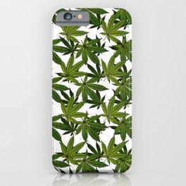 Cannabis Leaf - White iPhone Case