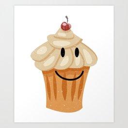 Happy Cute Pastry Breakfast Food T-Shirt Art Print
